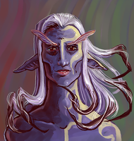 Drow In Need Of Assistance by shivikai