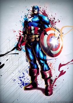 Captain America by inkedr