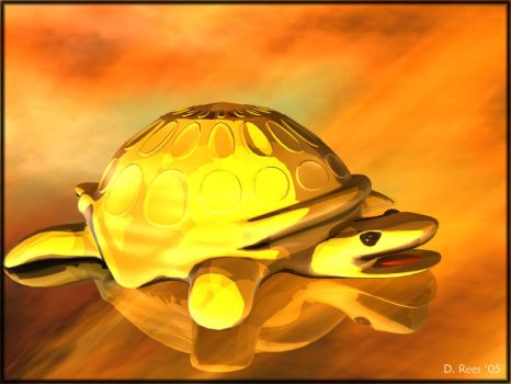Golden Turtle by Zethara