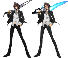 Squall in Yasogami High uniform by Redchampiontrainer01