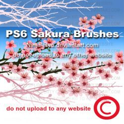 PS6 BRUSHES - Sakura by Ninja-Ryo