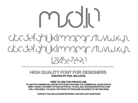 MSD.10 Typeface by PAULW