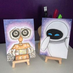WALL-E and Eve by kirstyhannam