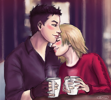 Coffee Shop - Yurio x Otabek by Acxe