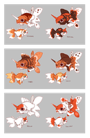 Goldeen and Seaking Variations