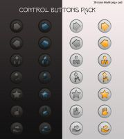 Control Buttons png + psd by LeMex