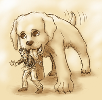 Tiny Jon Loves Dogs by ErinPtah