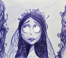Emily - Corpse bride a lapicero by Mary147