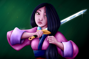Mulan's Decision by crystalizi