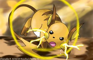 Raichu's battle by Phatmon