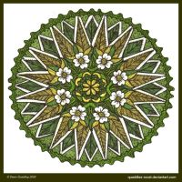 Springtide Mandala by Quaddles-Roost