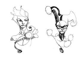 POWER GIRL and HARLEYQUINN by EricCanete