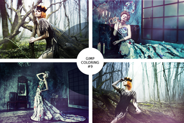 GIMP coloring #9 / Forest dreams by MadelineSane