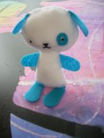 True Blue Felt Friend by lainey