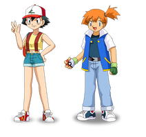 Ash Misty Head swap by Insert-artistic-nick