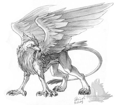 Pencil Gryphon by Lintufriikki