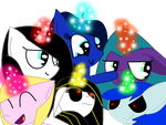 My Mane 6 Alicorns by theshadowpony357