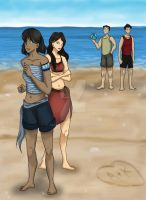 LoK: Beach Day by AliAvian