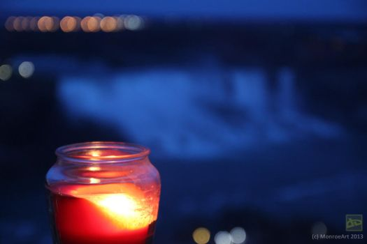 Niagara Falls Candle Light by monroeart