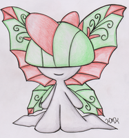 Old Pokemon, New Type 14: Ralts by Shabou