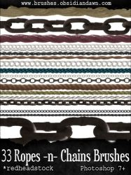 GIMP Ropes N Chains Brushes by Project-GimpBC