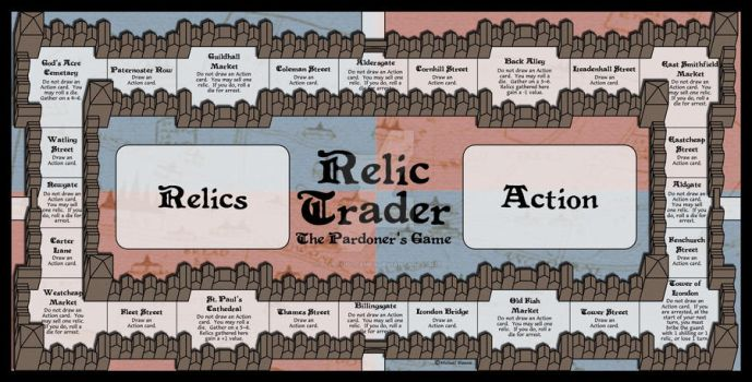 Relic Trader: The Pardoner's Game - Gameboard by BlueFoolGames
