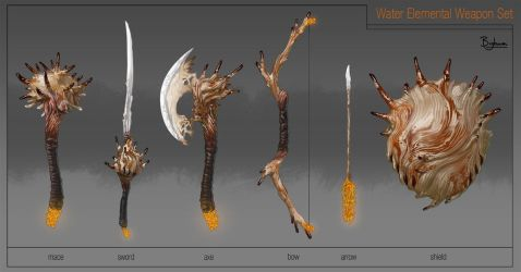 Water Elemental Weapons by SBigham