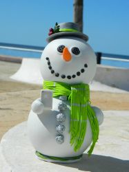 hipster snowman by pako0007