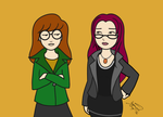Daria and Kay by enigmawing