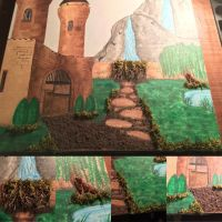 Castle Painting WIP 5.6.17 by j0wey