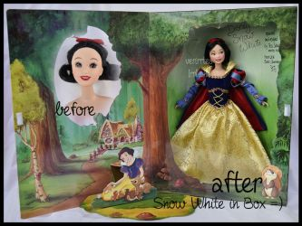 repainted ooak signature snow white doll. by verirrtesIrrlicht