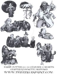 Harry Potter: Book 2 Chapter 12 vignette Drawings by TheGeekCanPaint