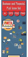 Icons - Business and Finance Flat Icons Big Set by CURSORCH