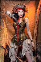 Pirate steampunk by TheComtesseLea