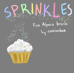 Sprinkles! - FireAlpaca Brush by rimirinchan