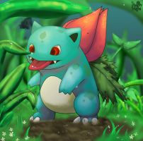 .:Ivysaur:. by Pand-ASS