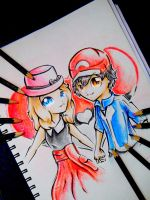 Serena and Ash by Silver-Artemis-Moon