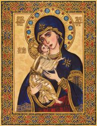 The Theotokos of Vladimir by Theophilia