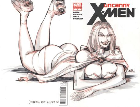 SKETCH COVER Uncanny X-Men 1 by jasinmartin