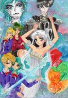 Capter Cover for my new Sailor Moon- Doujinshi by SilverSerenity1983