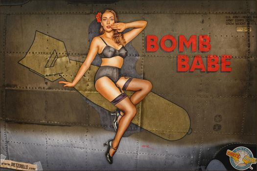 Nose Art - Bomb Babe by warbirdphotographer