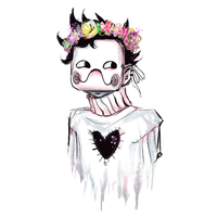 a sparkling zacharie with a beautiful flower crown by anemontaglub