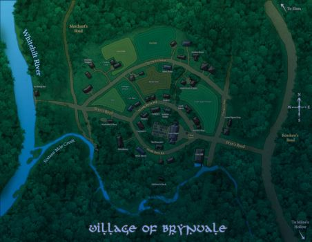Map of Brynvale- Nighttime by Radioactive-Insanity