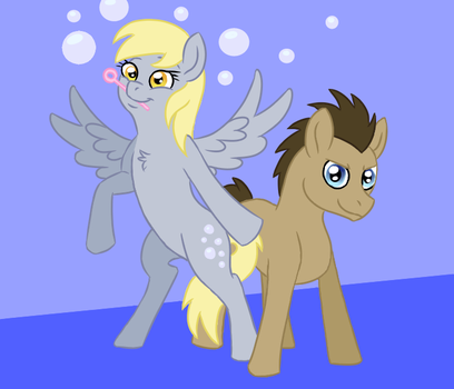 MLP Art Challenge Days 13/14: Derpy and the Doctor by Spyro-For-Life