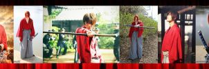 Side/side of my Kenshin cosplay with Satoh by KenshinKyo