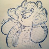 Clawhauser by JustAutumn
