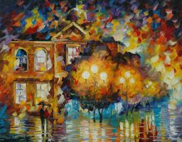 Glowing night by Leonid Afremov by Leonidafremov