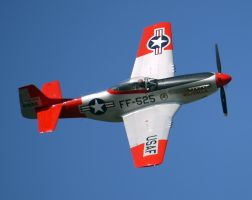 North American TF-51D Flyby by shelbs2