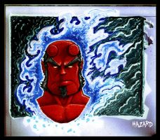 HELLBOY marker sketch by MRHaZaRD