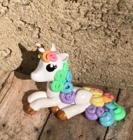 Rainbow Unicorn Sculpture by TinyBlissfulness